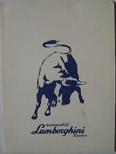 Lamborghini Diablo 1990 Benelux Markets Press Kit In French