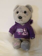 "Justin Bieber 9"" Bear With Purple Hoodie Plush"