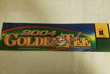 Golden Tee 2004 Marquee backlit sign  Incredible Technologies Nice condition
