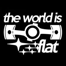 2 Subaru the world is flat vinyl sticker decal sti wrx