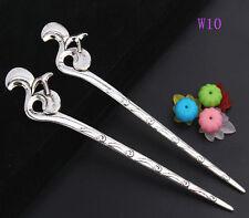 1pcs Fashion zinc alloy flower hair pin 135mm W10
