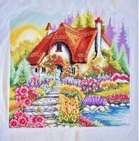 """New finished completed cross stitch""""Sweet House""""Needlepoint home decor gift"""