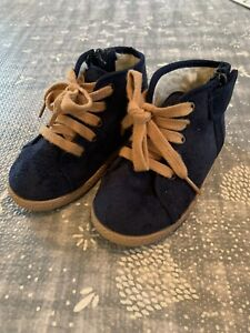 Childrenchic Maisonette Boys Girls Suede McAlister Fur Lined Boots Size 23 US 7