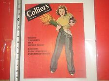 JK620 Colliers July 1942 Bill gillies Cover war bonds motor cycle lady soldier