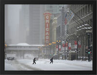 CHICAGO ILLINOIS WINTER NEW A3 FRAMED PHOTOGRAPHIC PRINT POSTER