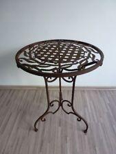 Metalltisch Beistelltisch Blumenhocker Tisch Metall Eisen rund H 57 cm WK071291