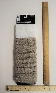 Tan Brown Legwarmer Envision Studio  Beige Long Boot Socks - FLASH SALE