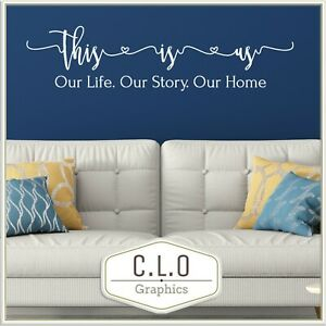 This is Us Quote Wall Sticker Vinyl Art Story Transfer Family Home Decor Decal