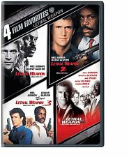 Lethal Weapon 1 2 3 4 DVD Set Complete Collection Movie Box Lot Gibson Glover R1