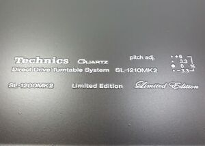 Transfert À Sec Kit Platine Technics Sl 1210 MK2, Sl 1200 MK2 Blanc