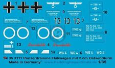 Peddinghaus 1/35 Panzerdraisine Flakwagen German FlaK Car Markings WWII 3111