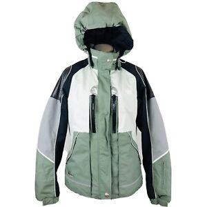 Decente Womens Ski Jacket sz 8 Titan Thermo Ion Bodies Aquamarine PRISTINE
