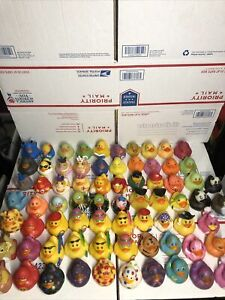 Lot of 72 Rubber Ducks and animals Plastic Rinco 02720 Bath Toys