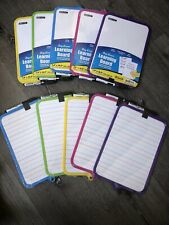 Dry Erase Learning Board Double Side+ Marker & Eraser(Color May Very) Buy2 +1fre