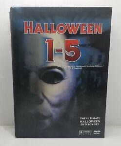 Halloween Box Set Movies 1-5 Horror DVD, Reigon 4 Aus, RARE Free Postage