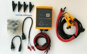 FLUKE 1744 POWER QUALITY LOGGER MEMOBOX WITH ACCESSORIES & SOFT CARRY CASE #1