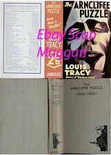Louis Tracy  THE ARNCLIFFE PUZZLE  2nd w/fdj 1936 Jarrolds thriller