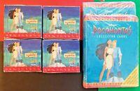 1995 Skybox Disney's Pocahontas Cards (4) Jumbo Box Sealed Packs + (2) Binders!