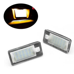 Qty2 For Audi A3 S3 A4 S4 B6 S6 Auto LED License Number Plate Lights Bulbs Lamps