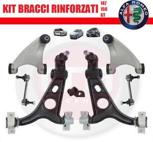 KIT BRACCI SOSPENSIONE ANTERIORI ALFA ROMEO 147 - 156 - GT 8PZ. RINFORZATI  new