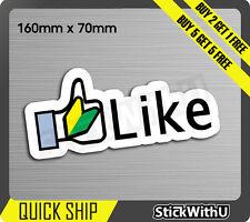 Like thumb up facebook Wakaba Sticker Decal Vinyl JDM race Car drift Turbo 1V12