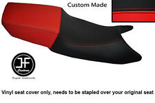 BLACK AND RED VINYL CUSTOM FITS HONDA CBR 600 F 87-90 DUAL SEAT COVER ONLY