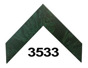 "Custom Picture Frame   1 1/2"" Sleek Green Burl   Great for Photos & Artwork"