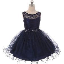 TIFFANY BLUE Flower Girl Dress Formal Bridesmaid Prom Wedding Dance Party Gown