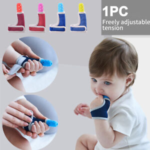 Wrist Band Dental Care Finger Guard Stop Thumb Sucking Soft Baby Child AU