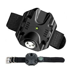 Hot Outdoor Flashlight LED Bracelet Torch Chargeable Wrist Light Compass USB
