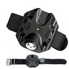 Tactical Rechargeable Wrist Watch LED Q5 Flashlight Torch Compass Light