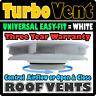 Low Profile 'Turbo 3' Van Camper Motorhome Roof Top Air Vent WHITE VW Volkswagen
