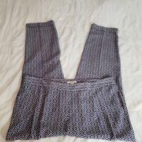 ANN TAYLOR LOFT Size 10 Purple & White MARISA Polyester Dress Pants Slacks Women