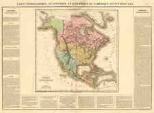 'l'amérique septentrionale' . América del Norte. Alaska. Buchon 1825 Mapa De Rusia