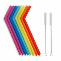 10pcs Reusable Silicone Straws for 30 oz RTIC/Yeti  Bpa-Free No Rubber Tast