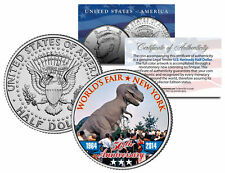 1964 New York WORLD'S FAIR 50th Anniv TYRANNOSAURUS T. REX Coin JFK Half Dollar