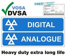 MOT SIGNS | MOT SIGN | VOSA  DVSA TACHO H/DUTY TACHOGRAPH DIGITAL ANALOGUE SIGN