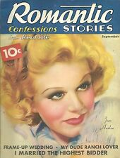 ROMANTIC STORIES MAGAZINE 1936 WITH JEAN HARLOW'S NEW LOOK