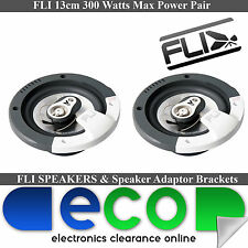 "Ford Fiesta MK3 MK4 1989-2001 FLI 5.25"" 360 Watts 3 Way Front Door Car Speakers"
