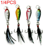 Nice Hard Metal Fishing Lures Small Minnow Lure Bass Crank Bait Tackle Hooks