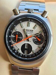 Vintage 1979 CITIZEN Bullhead Chronograph Automatic Cal.8110 23Jewel Men's Watch