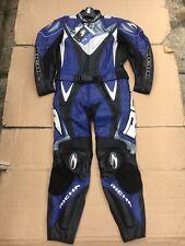 "RICHA Mens Two Piece Race Leather Motorcycle Suit UK 46"" Chest & 38"" Waist   LB4"