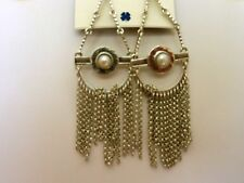 Lucky Brand Silver-Tone Chandelier Mother of Pearl Earrings MSRP $39