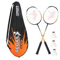 2 Player Badminton Bat Replacement Set Ultra Light Carbon Fiber Badminton Sports