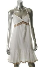 New FAMOUS CATALOG Moda Cotton White Casual Knee Length Summer Beach Dress Sz L