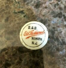 B&B Old Fashioned Brewery Co Newark Nj Porcelain Beer Bottle Stopper Cap