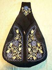 Nepal - Suede backpack handmade lined embroidered / mochila ante / zaino pelle