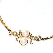 TORRENTE Collier baroque couleur or perle style bijou necklace