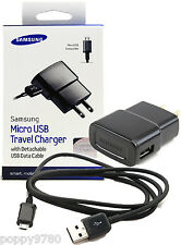 New Samsung Wall Travel Charger Power Adapter + Detachable Micro USB Data Cable