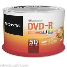 SONY DVD-R INKJET PRINTABLE 50 PACK SPINDLE CAKE /  16X SPEED / 4.7GB DATA